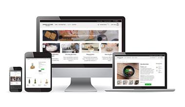 Showing our website works on mobile phone, tablet & desktop platforms.