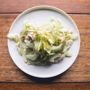 Chicken Celery Salad close up at Japan's Kitchen